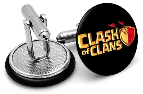 Clash of Clans Cufflinks - Angled View