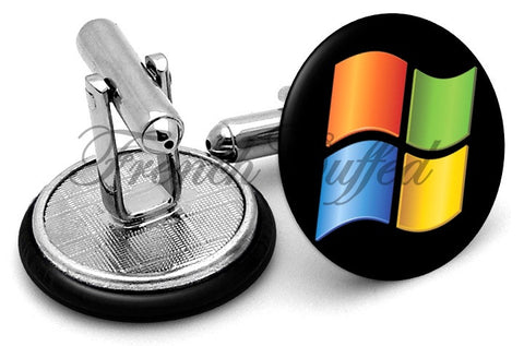 Microsoft Windows Logo Cufflinks - Angled View