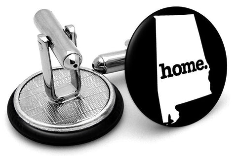 Alabama Home State Cufflinks - Angled View