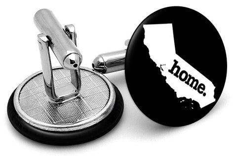 California Home State Cufflinks - Angled View
