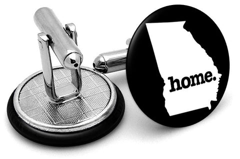 Georgia Home State Cufflinks - Angled View