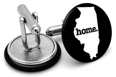 Illinois Home State Cufflinks - Angled View