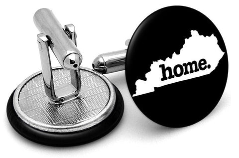 Kentucky Home State Cufflinks - Angled View
