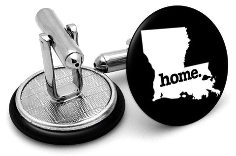 Louisiana Home State Cufflinks - Angled View