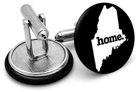 Maine Home State Cufflinks - Angled View