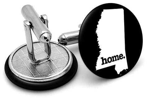 Mississippi Home State Cufflinks - Angled View