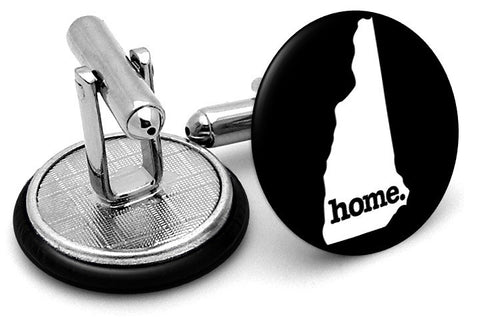 New Hampshire Home State Cufflinks - Angled View