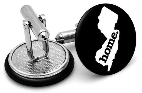 New Jersey Home State Cufflinks - Angled View