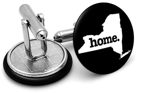 New York Home State Cufflinks - Angled View