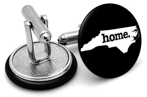 North Carolina Home State Cufflinks - Angled View