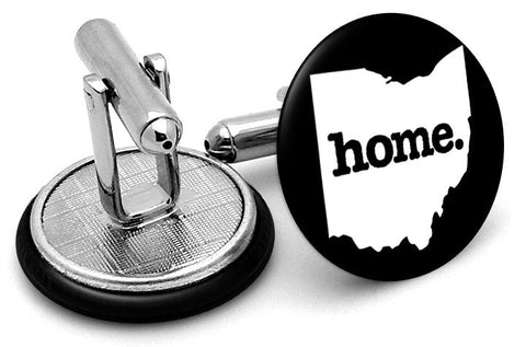 Ohio Home State Cufflinks - Angled View