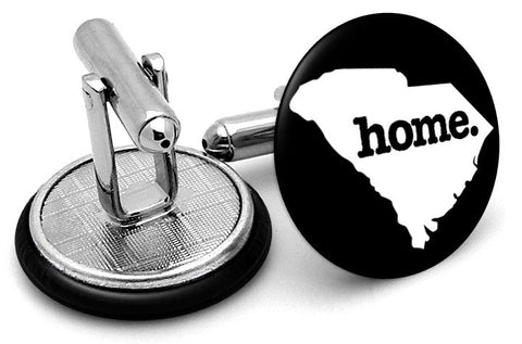 South Carolina Home State Cufflinks - Angled View