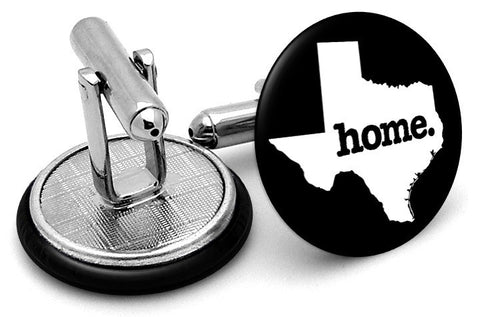 Texas Home State Cufflinks - Angled View