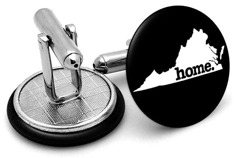 Virginia Home State Cufflinks - Angled View