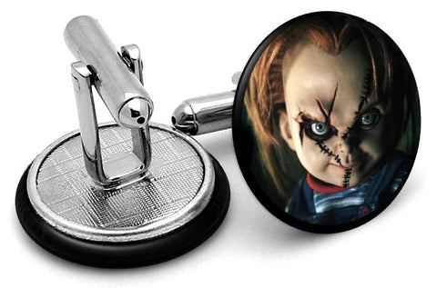 Chucky Child Play Cufflinks - Angled View