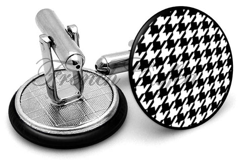 Houndstooth Classic Cufflinks