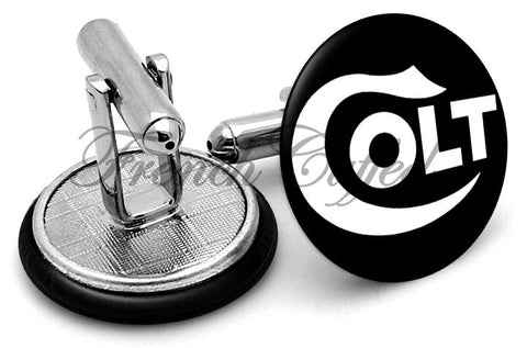 Colt Manufacturing Logo Cufflinks - Angled View