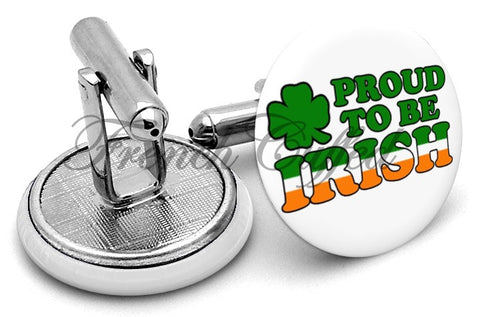 Proud to be Irish Cufflinks - Angled View