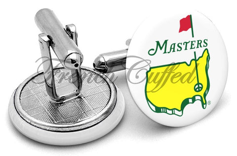 The Masters Golf Cufflinks - Angled View