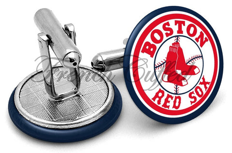 Boston Red Sox Logo Cufflinks - Angled View