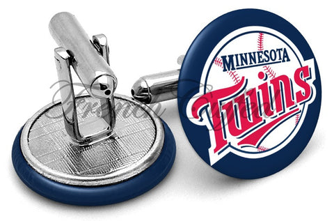 Minnesota Twins Alternate Cufflinks - Angled View