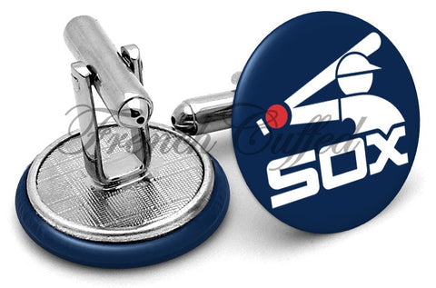 Chicago White Sox Vintage Cufflinks - Angled View