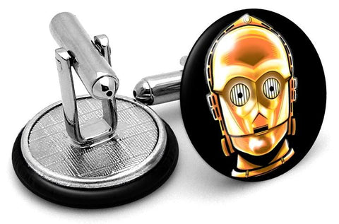 3PO Star Wars Cufflinks - Angled View
