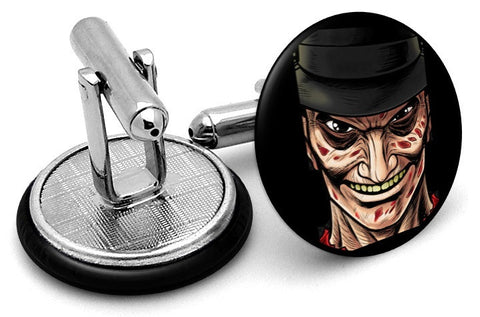 Freddy Krueger Portrait Cufflinks - Angled View