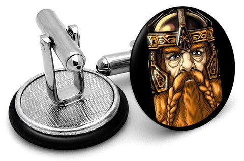 Gimli Lord Rings Cufflinks - Angled View