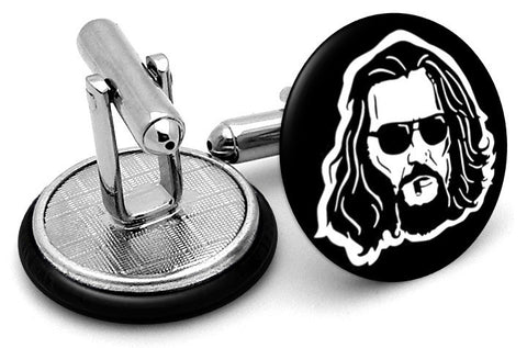 Big Lebowski Face Cufflinks - Angled View