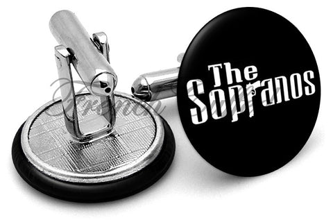The Sopranos Logo Cufflinks - Angled View