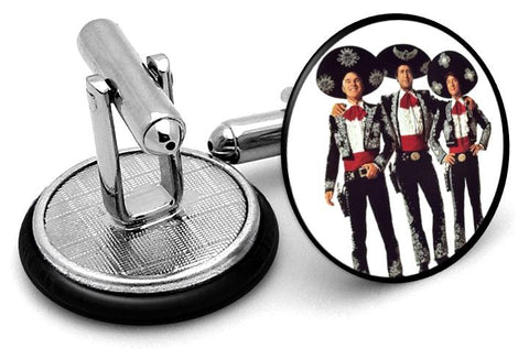 Three Amigos Cufflinks - Angled View