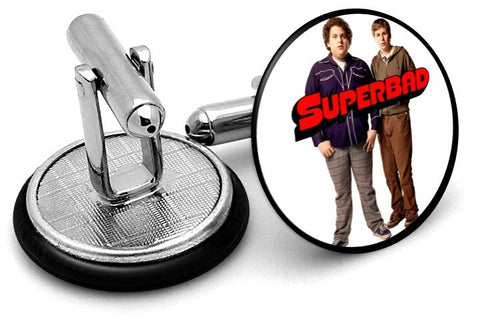 Superbad Movie Cufflinks - Angled View