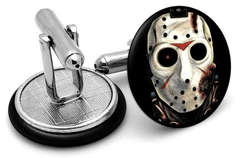 Jason Vorhees Cufflinks - Angled View