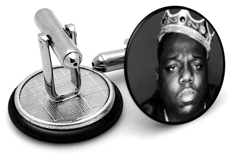 Notorious B.I.G. Big Cufflinks - Angled View