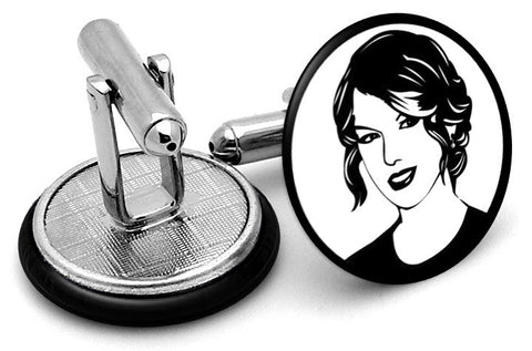 Taylor Swift Cufflinks - Angled View