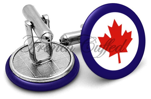 Canada Maple Leaf Cufflinks - Angled View