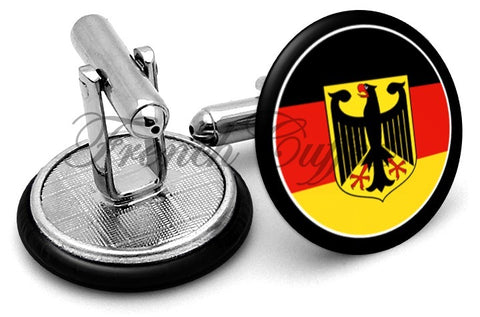Germany Badge Cufflinks - Angled View