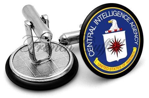 CIA Central Intelligence Agency Cufflinks - Angled View