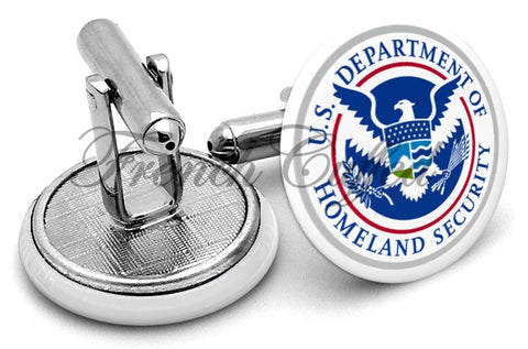 Department Homeland Security Cufflinks - Angled View