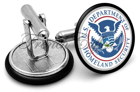 Homeland Security Cufflinks - Angled View