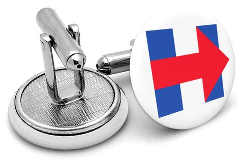 Hillary Clinton President Cufflinks - Angled View