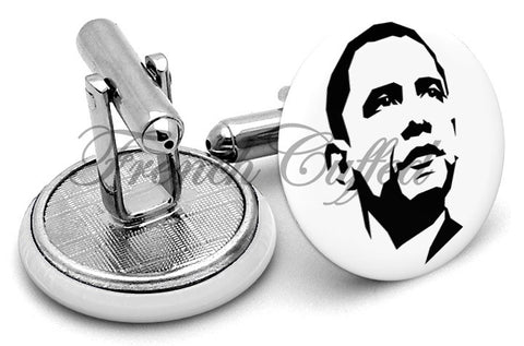 Barack  Obama Cufflinks - Angled View