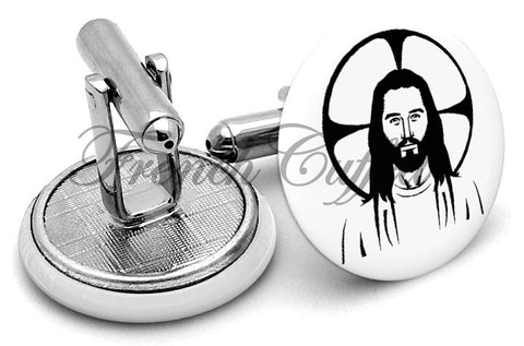 Jesus Halo Cufflinks - Angled View