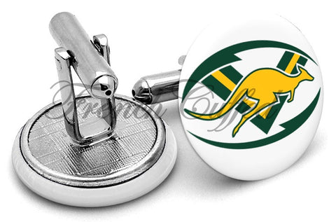 Australian Kangaroos Rugby League Cufflinks - Angled View