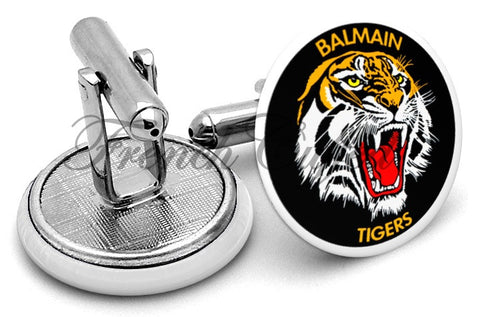 Balmain Tigers Cufflinks - Angled View
