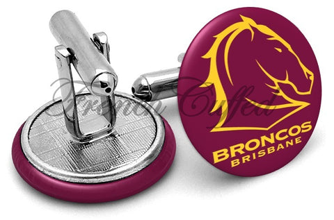 Brisbane Broncos Cufflinks - Angled View