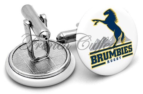 ACT Brumbies Cufflinks - Angled View