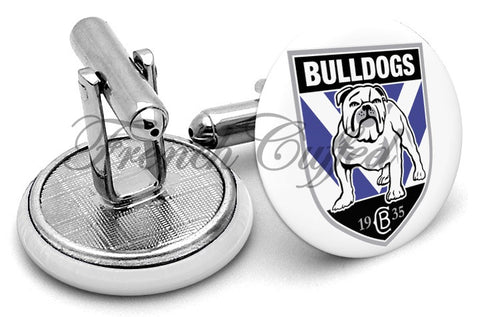 Cantebury Bankstown Bulldogs Cufflinks - Angled View