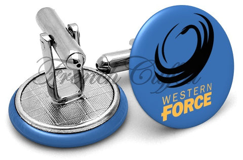 Western Force Cufflinks - Angled View